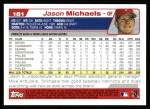 2004 Topps #181  Jason Michaels  Back Thumbnail