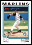 2004 Topps #236  Brad Penny  Front Thumbnail