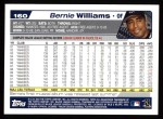 2004 Topps #160  Bernie Williams  Back Thumbnail