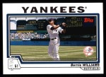 2004 Topps #160  Bernie Williams  Front Thumbnail
