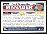 2004 Topps #295  Buck Showalter  Back Thumbnail