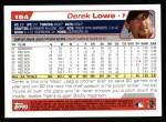 2004 Topps #194  Derek Lowe  Back Thumbnail