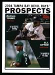 2004 Topps #692  B.J. Upton / Delmon Young  Front Thumbnail