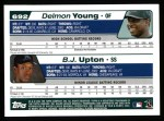 2004 Topps #692  B.J. Upton / Delmon Young  Back Thumbnail