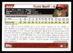 2004 Topps #322   -  Todd Self First Year Back Thumbnail