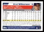 2004 Topps #244  Brad Wilkerson  Back Thumbnail