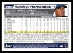 2004 Topps #258  Runelvys Hernandez  Back Thumbnail