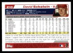 2004 Topps #210  David Eckstein  Back Thumbnail