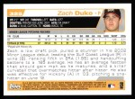2004 Topps #325   -  Zach Duke First Year Back Thumbnail