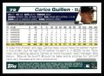 2004 Topps #72  Carlos Guillen  Back Thumbnail