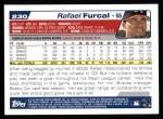 2004 Topps #230  Rafael Furcal  Back Thumbnail