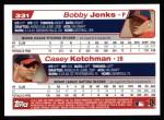 2004 Topps #331  Bobby Jenks / Casey Kotchman  Back Thumbnail