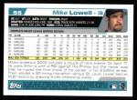 2004 Topps #55  Mike Lowell  Back Thumbnail