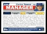 2004 Topps #296  Carlos Tosca  Back Thumbnail