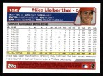 2004 Topps #152  Mike Lieberthal  Back Thumbnail