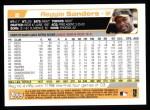2004 Topps #2  Reggie Sanders  Back Thumbnail