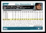 2004 Topps #144  Alex Gonzalez  Back Thumbnail