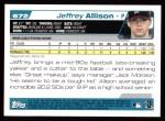 2004 Topps #672  Jeffrey Allison  Back Thumbnail