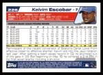 2004 Topps #226  Kelvim Escobar  Back Thumbnail