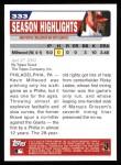 2004 Topps #333   -  Kevin Millwood  Highlights Back Thumbnail