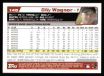 2004 Topps #145  Billy Wagner  Back Thumbnail