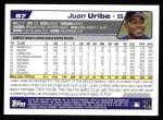2004 Topps #87  Juan Uribe  Back Thumbnail