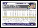 2004 Topps #110  Todd Helton  Back Thumbnail