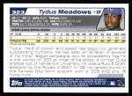 2004 Topps #323   -  Tydus Meadows First Year Back Thumbnail