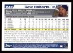 2004 Topps #242  Dave Roberts  Back Thumbnail