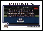 2004 Topps #647   Colorado Rockies Team Front Thumbnail