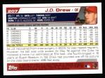 2004 Topps #207  J.D. Drew  Back Thumbnail