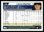 2004 Topps #74  Lance Carter  Back Thumbnail