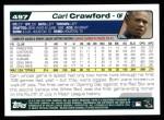 2004 Topps #497  Carl Crawford  Back Thumbnail
