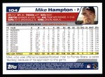 2004 Topps #104  Mike Hampton  Back Thumbnail