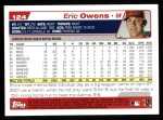 2004 Topps #124  Eric Owens  Back Thumbnail