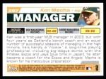 2004 Topps #287  Ken Macha  Back Thumbnail