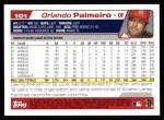 2004 Topps #101  Orlando Palmeiro  Back Thumbnail