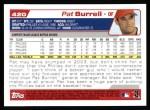 2004 Topps #420  Pat Burrell  Back Thumbnail