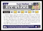2004 Topps #719   -  Todd Helton All-Star Back Thumbnail