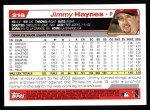 2004 Topps #216  Jimmy Haynes  Back Thumbnail