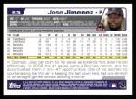2004 Topps #53  Jose Jimenez  Back Thumbnail