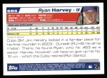 2004 Topps #685  Ryan Harvey  Back Thumbnail