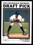 2004 Topps #687  Rickie Weeks  Front Thumbnail
