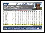 2004 Topps #28  Fred McGriff  Back Thumbnail