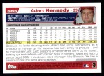 2004 Topps #505  Adam Kennedy  Back Thumbnail