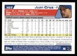 2004 Topps #107  Juan Cruz  Back Thumbnail