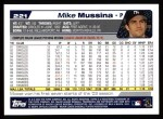 2004 Topps #221  Mike Mussina  Back Thumbnail