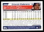 2004 Topps #266  Orlando Cabrera  Back Thumbnail