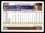 2004 Topps #141  Craig Counsell  Back Thumbnail