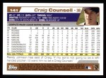 2004 Topps #141  Craig Counsell  Back Thumbnail